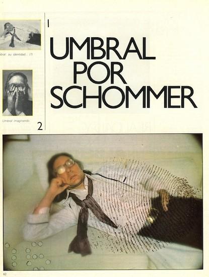 """Francisco Umbral. (C) Alberto Schommer.""""Umbral: su identidad."""" FOTO, nº 0, marzo de 1982"""