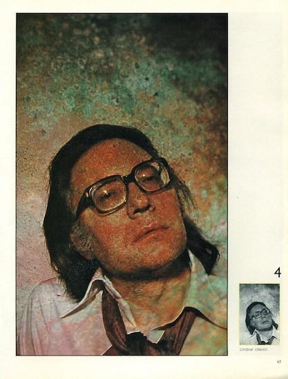 """Francisco Umbral. (C) Alberto Schommer. """"Umbral: clásico."""" FOTO, nº 0, marzo de 1982"""