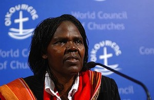 Dra. Agnes Aubom, moderadora del Consejo Mundial de Iglesias (CMI) Dra. Agnes Aubom, moderadora del Consejo Mundial de Iglesias (CMI)