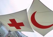 Emblemas de la Cruz Roja y la Media Luna Roja.