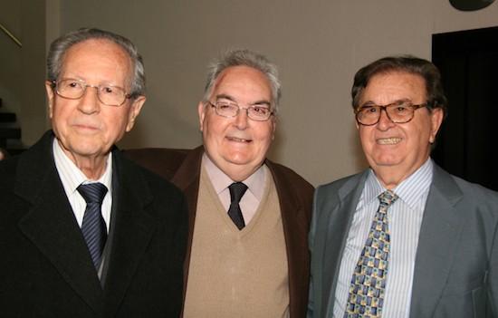 De izq. a dcha.: José María Martínez, José Grau y Juan Antonio Monroy
