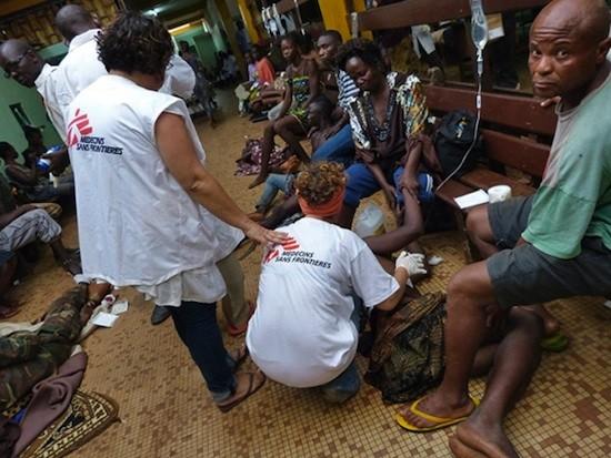 Personal de MSF en Bangui
