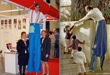Para los niños, el zancudo era un gigante 'de verdad'...