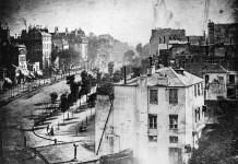 """""""Boulevard du Temple"""", la famosa foto de Daguerre en la que por primera vez aparece en una fotografía la figura humana"""