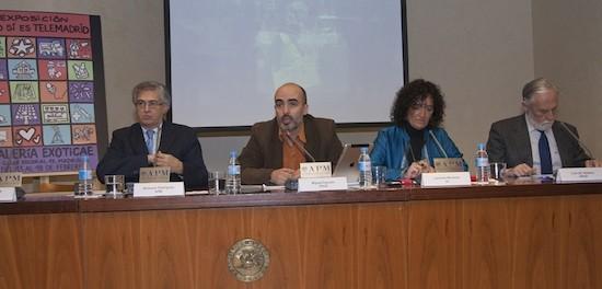 Nemesio Rodríguez, Miguel Aguado, Libertad Martínez y Luis de Velasco. Foto: M. Á. Benedicto (APM)