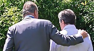 El rey Juan Carlos con Adolfo Suárez. Foto: Adolfo Suárez Illana. (Detalle 1)