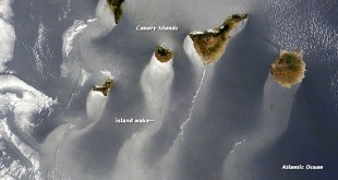 Vientos alisios en las Islas Canarias. Foto del Año NASA 2014