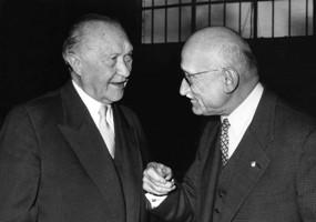 Adenauer y Schuman en 1957