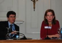 Jorge Sicilia, jefe de Estudios del BBVA, y Alejandra Kindelán, jefa de estudios del Banco Santander