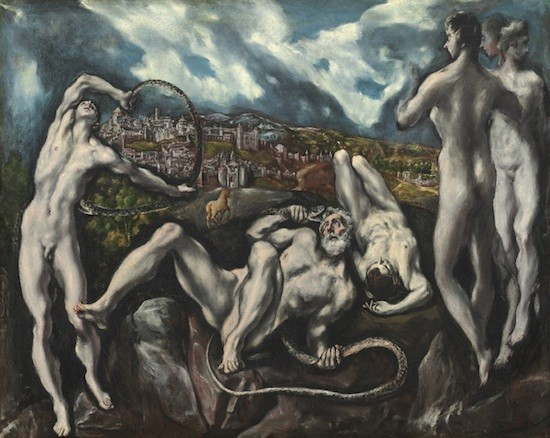 El Greco. Laocoonte. h.1608. Washington, Nat. Gall. of Art.Col. Samuel H. Kress