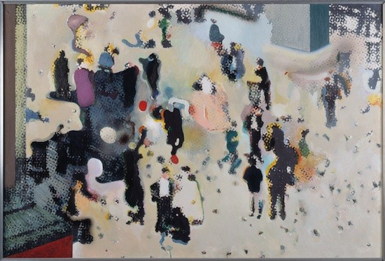 Richard Hamilton. Trafalgar Square, 1965-1967.  Óleo sobre fotografía montada sobre tabla. 81x122 om. Museum Ludwig, Colonia/ Donación de Ludwig