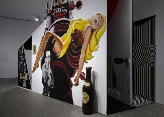 Richard Hamilton, vista de sala con la instalación The Funhouse. Foto: Joaquín Cortes/Román Lores