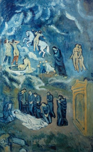 Picasso. El entierro de Casagemas.1901. Paris, Museo de Arte Moderno