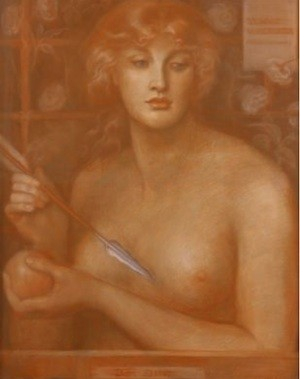 Pre rafaelita Dante G. Rossetti. Venus Verticordia 1867. Col. Pérez Simón, México. Museo Thyssen Bornemisza.