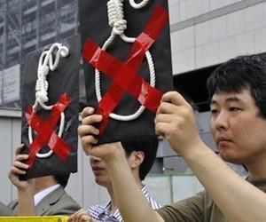 Protestas en Japón contra la pena de muerte