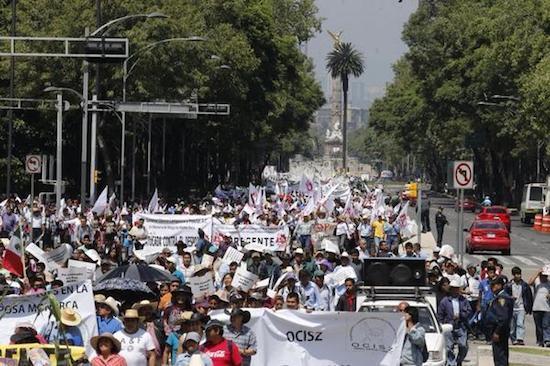 Manifestación campesina en el DF. Julio 2014, ©Kontxaki