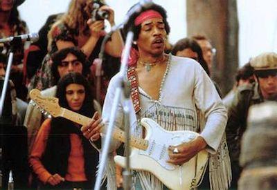 Jimi Hendrix en Woodstock, 1969