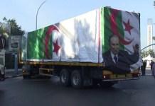 Camión argelino de la caravana 'Puentes de fraternidad'.