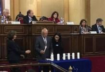 Senado de España, el presidente del Senado y el ministro de Asuntos Exteriores presiden el Día de la Memoria, el 24 de enero de 2019