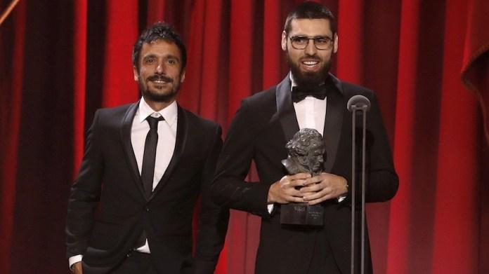 """Carles Bover Martínez y Julio Pérez del Campo recogen el Goya por el documental """"Gaza"""""""