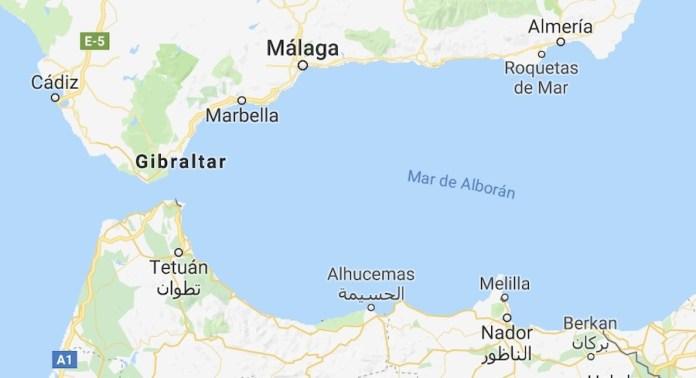 Mar de Alborán Google