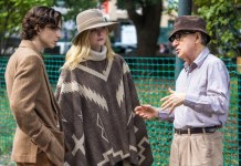 Woody Allen dirige a los actores de « A Rainy Day in New Yok »