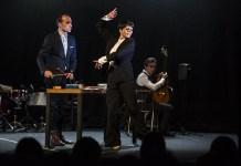 Leonor Leal, Antonio Moreno y Alfredo Lagos en Nocturno. Foto de Javier Fergo