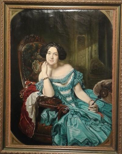 Autor: Federico de Madrazo. (Siglo XIX). Título de la obra: La condesa de Vilches.  Copista: Antonio Ramírez Ríos.