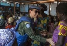 MINUSCA / Hervé SerefioLa casco azul brasileña Marcia Andrade Braga está desplegada en la misión de la ONU en República Centroafricana (MINUSCA)