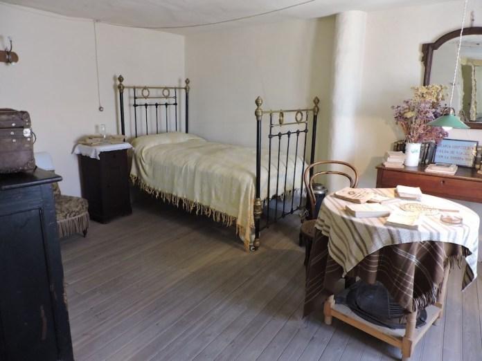Casa museo de Antonio Machado en Segovia: dormitorio