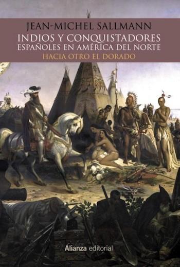 Indios y conquistadores españoles cubierta