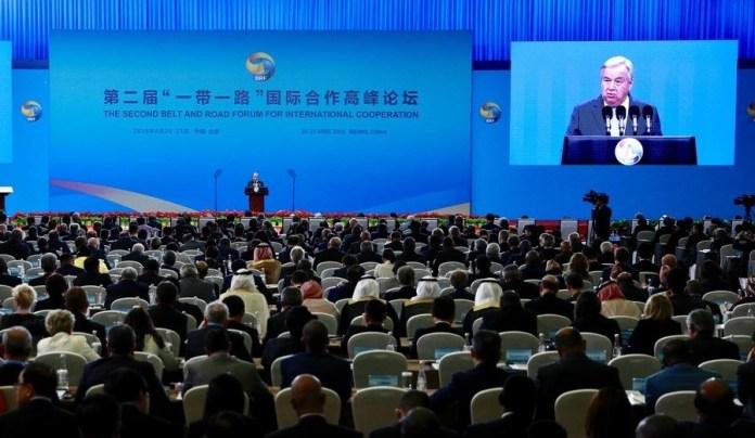 ONU China/Zhao Yun El Secretario General António Guterres habla en el Foro de Cooperación Internacional del Cinturón y Ruta de la Seda, celebrado en Beijing