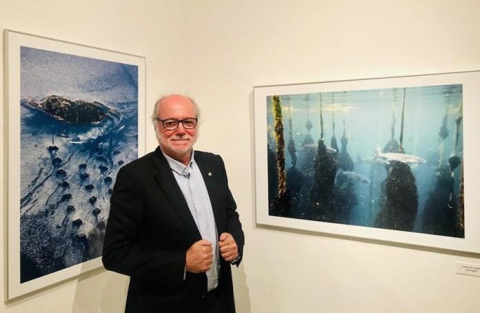 Xurxo Lobato en la exposición en Madrid