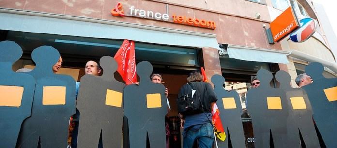 France Télécom protestas