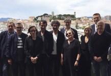 Promotores del llamamiento de los cineastas europeos a participar en la elecciones del mayo de 2019