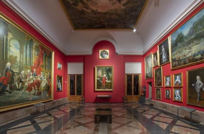 Museo del Prado: Gabinete de Descanso de Sus Majestades hasta 1865