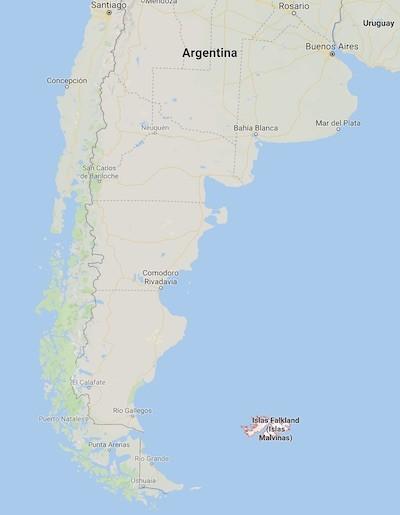 Argentina Malvinas map