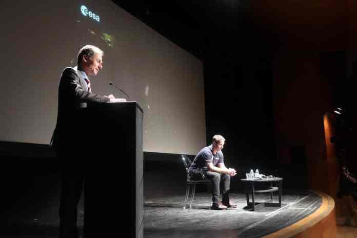 Pedro Duque y Thomas Pesquet Instituto Francés Madrid