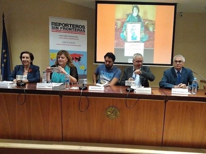 Presentación del informe de RSF sobre Periodismo en el Sáhara. APM Madrid