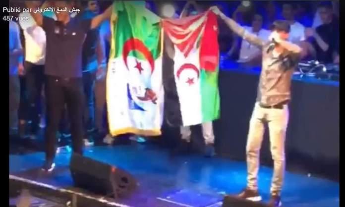 Soolking banderas Argelia y Sahara