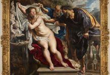 """""""Susana y los viejos, de Rubens, restaurada en la Academia de Bellas Artes de San Fernando, Madrid."""