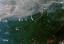 ESA: Cientos de incendios forestales se han desatado en Siberia. Algunos se pueden ver desde el espacio, como se ve en esta imagen de satélite