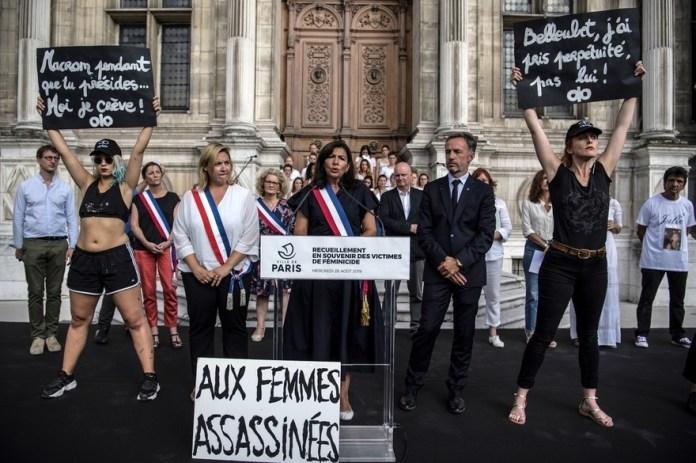 feminicidios París protestas