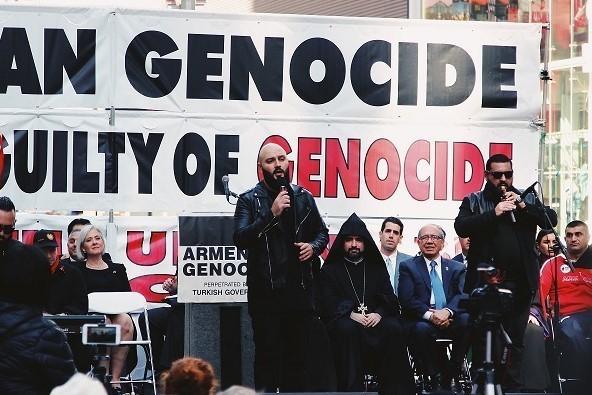 Acto en Estados Unidos en apoyo del reconocimiento del genocidio armenio.