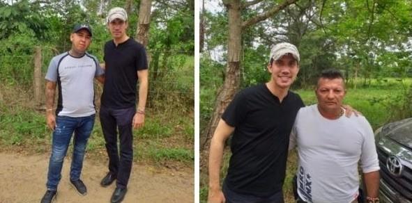 Fotografías de Guaidó con narcotraficantes y paramilitares colombianos.