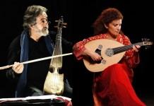 Jordi Savall con una integrante de Orpheus XXI en el Festival Arabesques