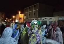 Manifestantes saharauis El Aaiún