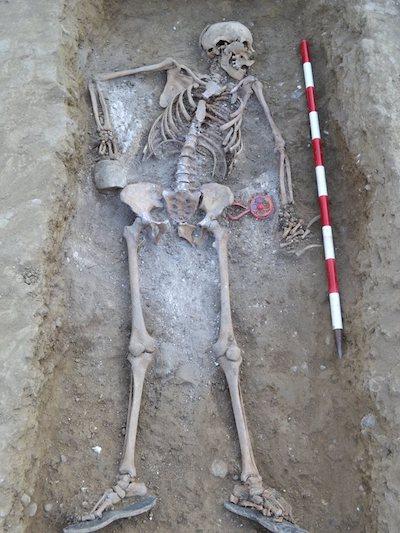 Recreación del rostro de Catalina Muñoz a partir de los restos óseos con sonajero encontrados en la fosa común de Palencia