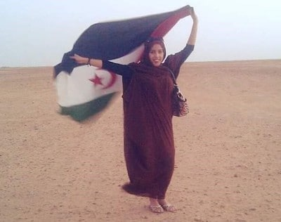 La joven saharaui Laila Fakhouri