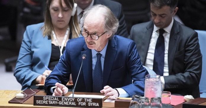 ONU/Kim Haughton El enviado especial del Secretario General de las Naciones Unidas para Siria,Geir Pedersen, informa al Consejo de Seguridad sobre la situación en el país.